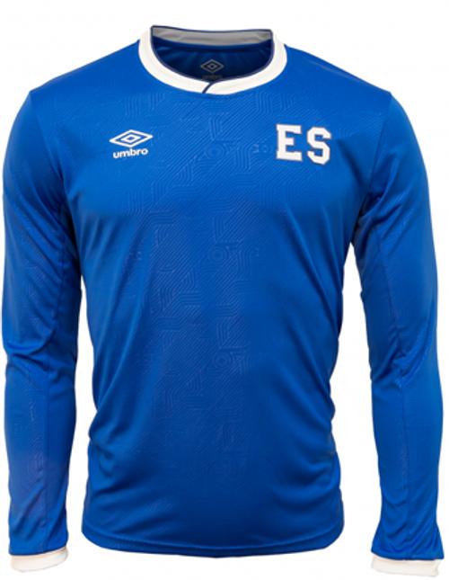 52bf8f91662 UMBRO EL SALVADOR 2018 HOME L/S JERSEY BLUE - Soccer Plus