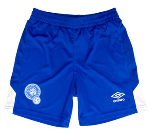 61fb283aef3 UMBRO EL SALVADOR 2019 HOME SHORT BLUE - Soccer Plus