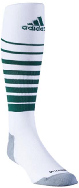 f8d86134bcfe ADIDAS TEAM SPEED SOCCER SOCKS WHITE GREEN - Soccer Plus