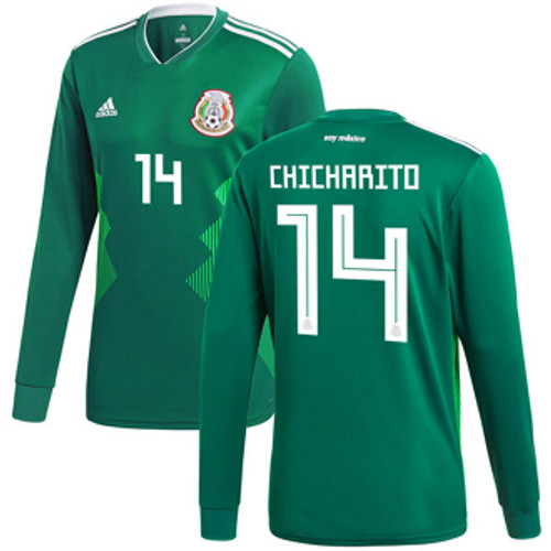 10262b887 ADIDAS MEXICO WORLD CUP 2018 `CHICHARITO` HOME L S JERSEY - Soccer Plus