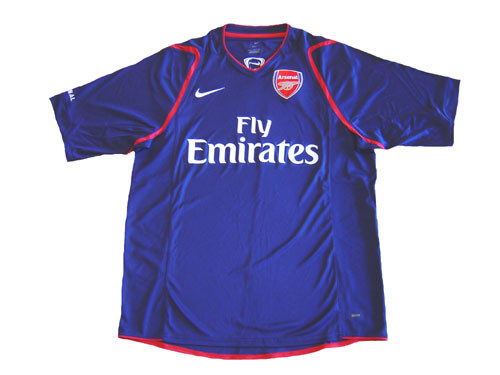 competitive price 369ba 71c3b NIKE ARSENAL 2007 TRAINING JERSEY NAVY BLUE