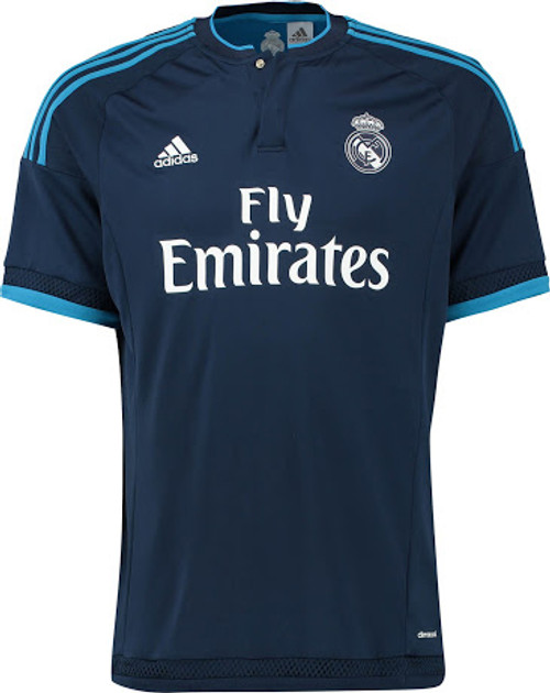 d669d696714 ADIDAS REAL MADRID 2016 AWAY 3rd JERSEY NAVY - Soccer Plus