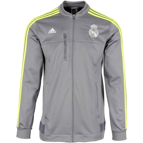 ADIDAS REAL MADRID 2016 ANTHEM JACKET GREY