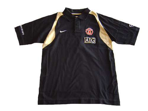 new style 3b5cf 9743f NIKE MANCHESTER UNITED 2007 POLO BLACK