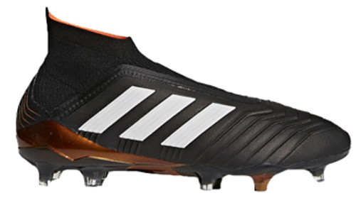ce9568d9884a ADIDAS PREDATOR 18+ FG Black White Solar Red - Soccer Plus