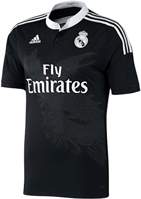 ecb6d6e56 ADIDAS REAL MADRID 2015 BLACK 3RD JERSEY - Soccer Plus