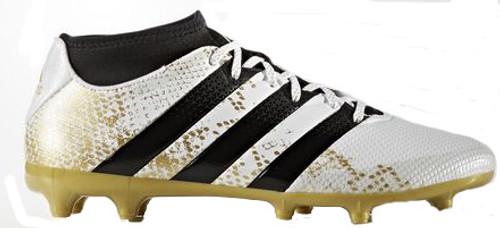 c58b5326d37c8 ADIDAS ACE 16.3 FG AG primemesh Jr. WHITE GOLD - Soccer Plus