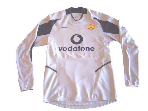 hot sale online 13f36 f56d4 NIKE MANCHESTER UNITED 2004 GOAL KEEPER JERSEY GREY
