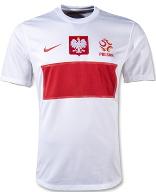 8b265bc64ef NIKE POLAND 2012 HOME JERSEY WHITE - Soccer Plus