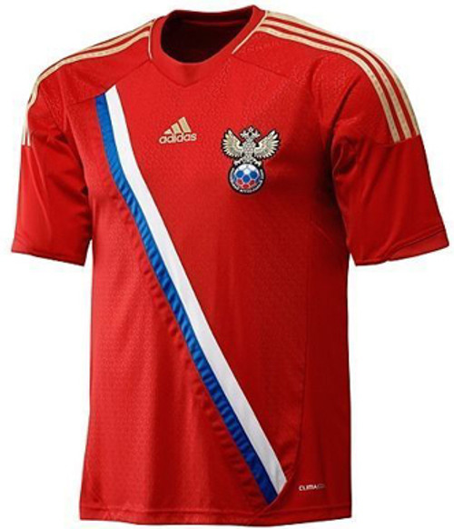 19bea006 ADIDAS RUSSIA 2012 HOME RED JERSEY - Soccer Plus