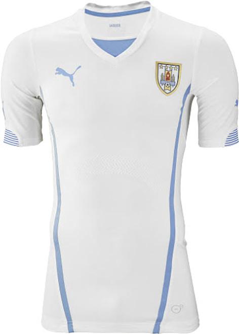 99702a355 PUMA URUGUAY 2015 AWAY JERSEY WHITE - Soccer Plus