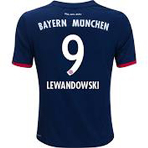 huge discount ccff1 14f66 ADIDAS BAYERN MUNICH 2018 AWAY `LEWANDOWSKI`JERSEY NAVY