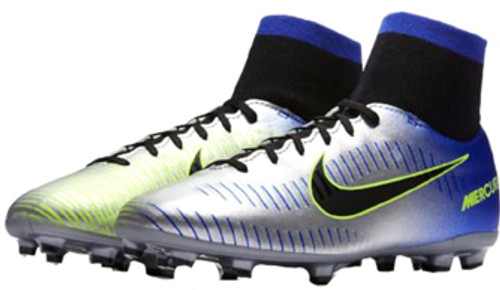 b71273811 NIKE Jr MERCURIAL VICTORY 6 DF NJR FG Racer Blue  Chrome - Soccer Plus