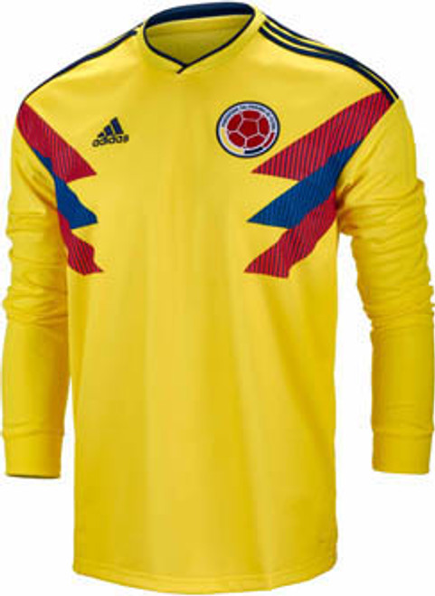 16c6f50485d ADIDAS COLOMBIA WORLD CUP 2018 HOME L S JERSEY - Soccer Plus