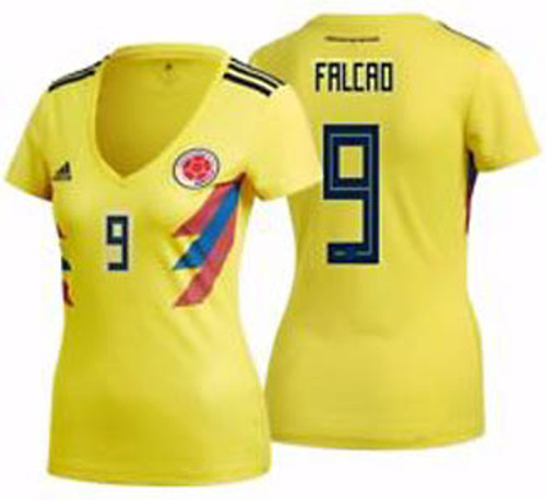 490528715 ADIDAS COLOMBIA 2018 WOMEN'S HOME `FALCAO`JERSEY - Soccer Plus