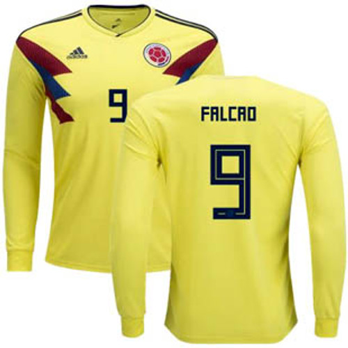 654c2dace0b ADIDAS COLOMBIA WORLD CUP 2018 `FALCAO`HOME L S JERSEY - Soccer Plus