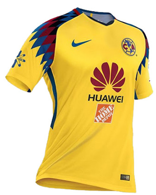 800221c5a0b NIKE CLUB AMERICA 2018 3RD JERSEY YELLOW - Soccer Plus