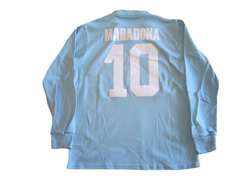 e67d1823133 NR NAPOLI MARADONA 1987 HOME L S RETRO JERSEY - Soccer Plus