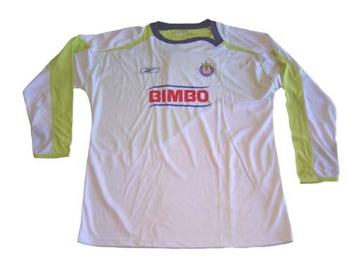 5cdc077cf REEBOK CHIVAS de GUADALAJARA 2008 AWAY L S JERSEY WHITE - Soccer Plus
