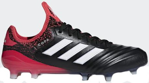 ADIDAS COPA 18.1 FG Soccer Cleat Black White Real Coral - Soccer Plus 1a11ea056175