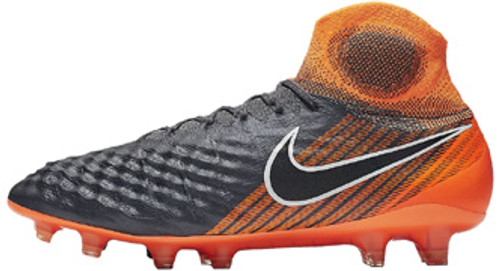 33bf0f467a0f NIKE MAGISTA OBRA II ELITE DF FG Grey total orange - Soccer Plus
