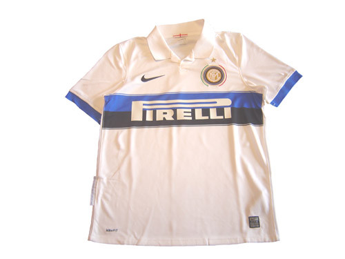 timeless design 16432 3ac4d NIKE INTER MILAN 2010 AWAY JERSEY WHITE