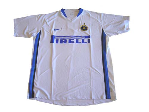 newest 02c7d 5e95a NIKE INTER MILAN 2007 AWAY JERSEY WHITE