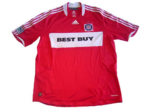 free shipping 4ffd6 f028b ADIDAS CHICAGO FIRE 2009 AUTHENTIC HOME JERSEY