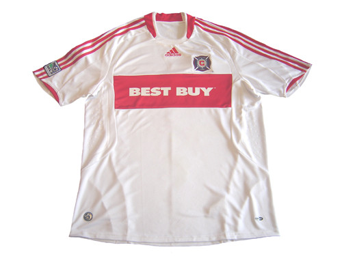 separation shoes 8a524 7d123 ADIDAS CHICAGO FIRE 2009 AWAY BOYS JERSEY WHITE