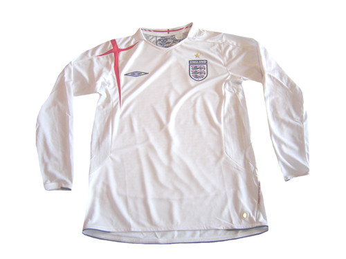 beadcc757 UMBRO ENGLAND 2006 HOME L S JERSEY - Soccer Plus