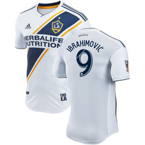 pick up 8f505 69a85 ADIDAS LA GALAXY 2018 `IBRAHIMOVIC`HOME AUTHENTIC JERSEY