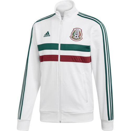 8c3a4db8a6e ADIDAS MEXICO 2018 WOMEN'S 3 Stripe Track Jacket White - Soccer Plus