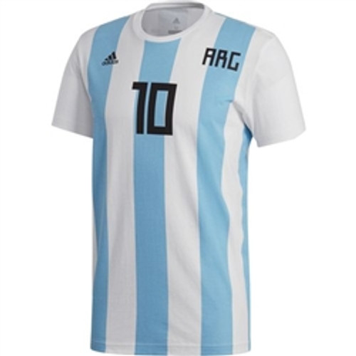 dd9a4494a ADIDAS ARGENTINA MESSI Name and Number TEE - Soccer Plus