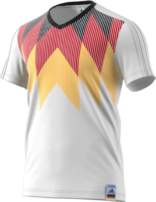 dac546e2f49 ADIDAS GERMANY 2018 COUNTRY IDENTITY Tee White-Black - Soccer Plus