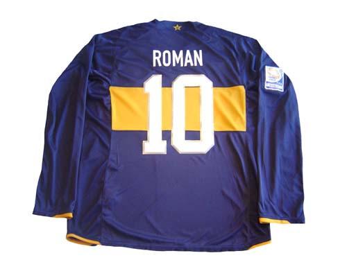 buy online f4cd5 f9e11 NIKE BOCA JUNIORS 2007 HOME `ROMAN` L/S JERSEY