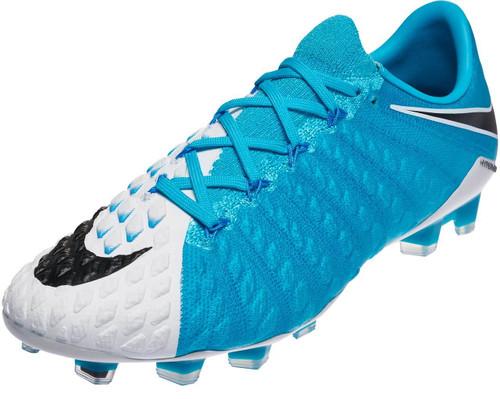 e8d222298f7 NIKE HYPERVENOM PHANTOM III DF FG white photo blue - Soccer Plus