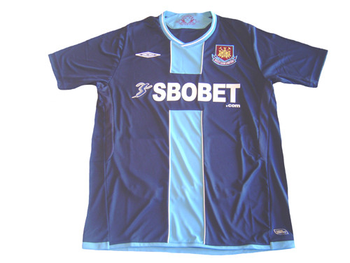 new arrival 7e387 b457f UMBRO WEST HAM UNITED 2010 AWAY JERSEY NAVY BLUE