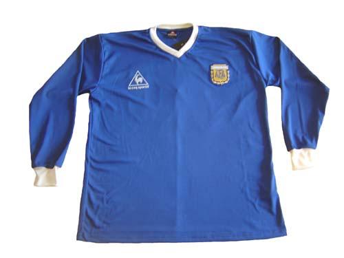 e6fcdfd07f0 LE COQ SPORTIF ARGENTINA 1986 MARADONA AWAY L S RETRO JERSEY ...