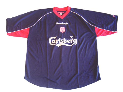 on sale 5ae92 92d22 REEBOK LIVERPOOL 2002 TRAINING JERSEY BLUE