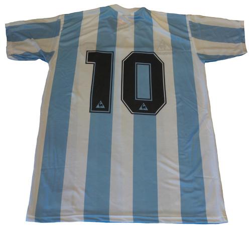 31074e6c821 LE COQ SPORTIF ARGENTINA 1986 MARADONA HOME L S RETRO JERSEY ...