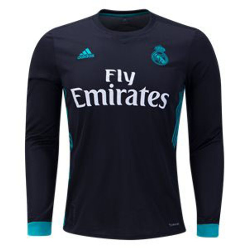 1ca1d50c7 ADIDAS REAL MADRID 2018 AWAY BLACK L S JERSEY - Soccer Plus