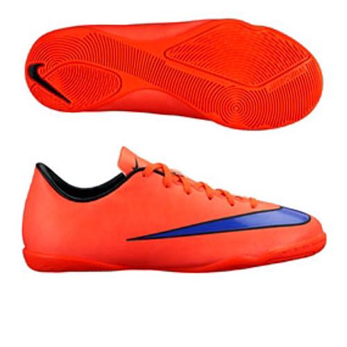 super popular f3b09 59795 NIKE JR MERCURIAL VICTORY indoor soccer shoes bright crimson
