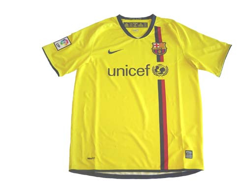 100% authentic dcf59 5953f NIKE BARCELONA 2008 AWAY JERSEY YELLOW