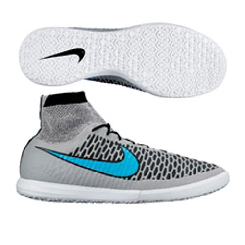 los angeles b9c0f 9b287 NIKE MAGISTAX PROXIMO IC WOLF GREY TURQUOZE indoor soccer shoes