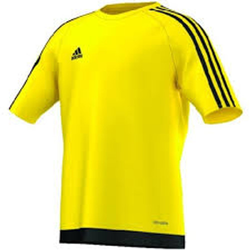 8882d0278e9 ADIDAS ESTRO 15 YOUTH JERSEY YELLOW soccer team uniform - Soccer Plus