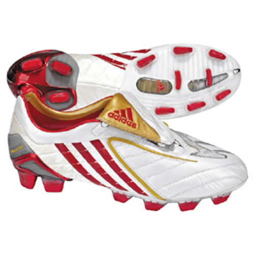 hot sale online af5c5 87408 ADIDAS P POWERSWERVE TRX FG WHITE RED GOLD firm ground soccer shoes