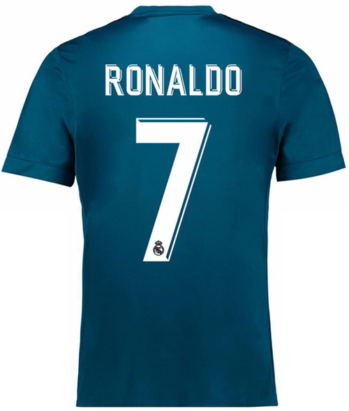 new product 5977a e614a ADIDAS REAL MADRID 2018 RONALDO 3RD JERSEY teal blue