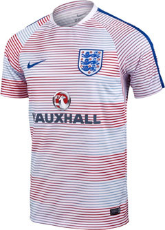 078032572 NIKE ENGLAND FLASH PRE-MATCH training top 2016 - Soccer Plus