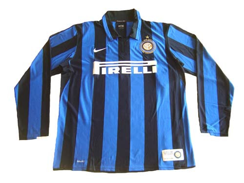 sneakers for cheap 4ad38 7bafa NIKE INTER MILAN 2008 HOME L/S 100 Anniversary JERSEY