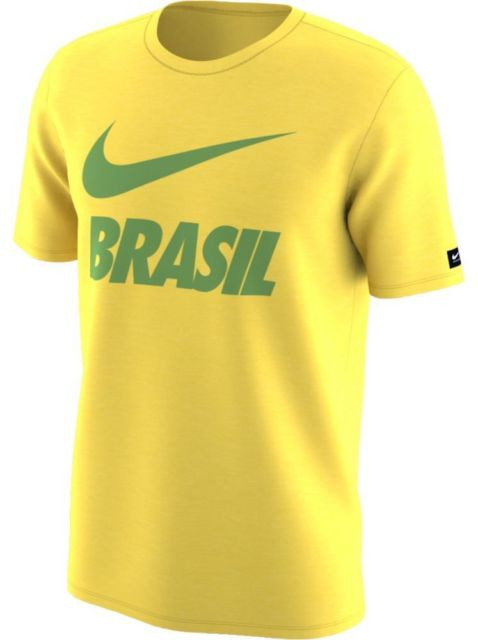 5ab7abe8f NIKE BRAZIL 2018 BOYS HOME T-Shirt Yellow - Soccer Plus